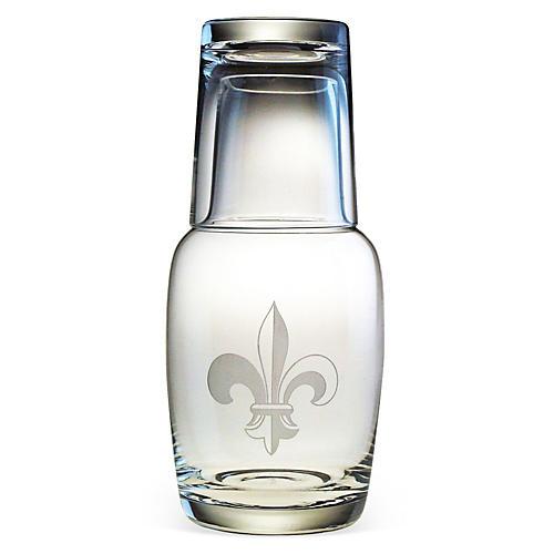 Fleur-de-Lis Night Bottle Set, 32oz