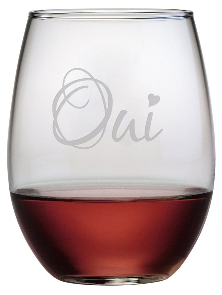 S/4 Oui Stemless Wineglasses