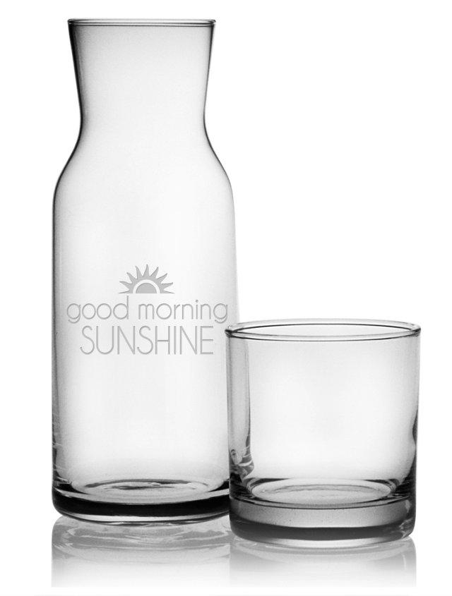"""Good Morning Sunshine"" Carafe & Glass"