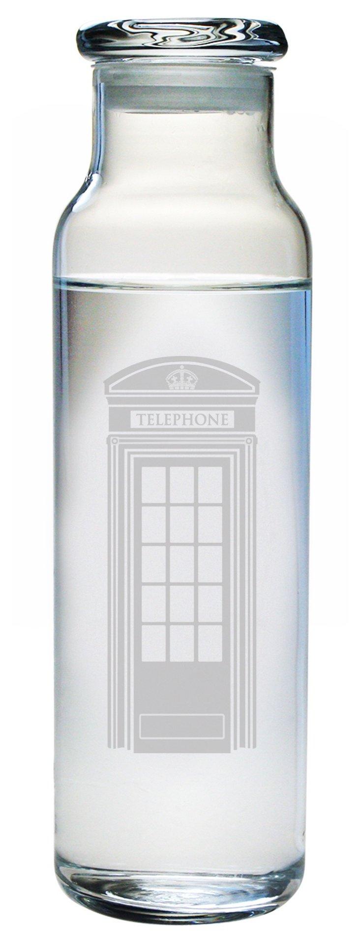 """""""London Calling"""" Glass Bottle w/Lid"""