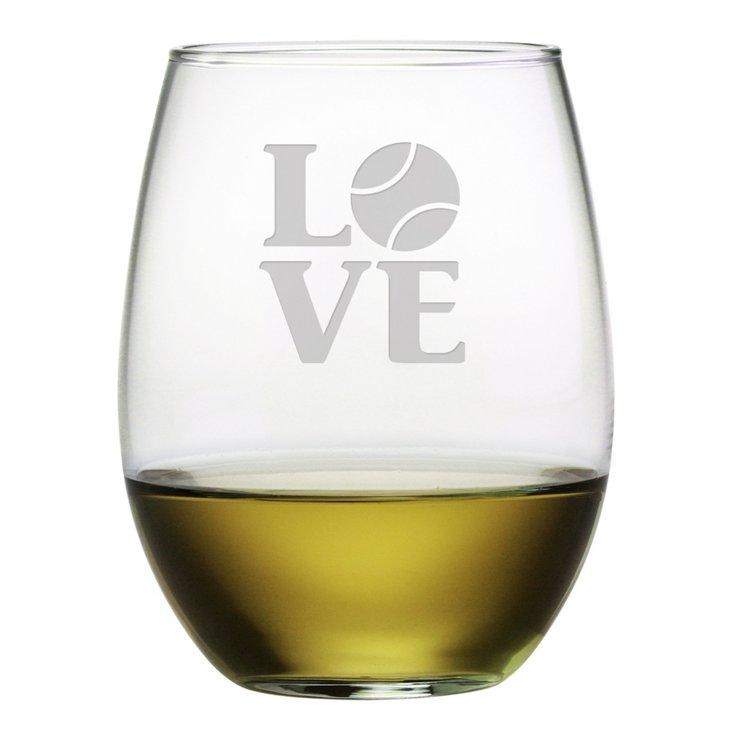S/4 Stemless Wineglasses, 21oz