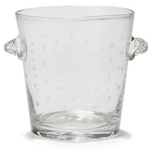 Starburst Ice Bucket, Clear