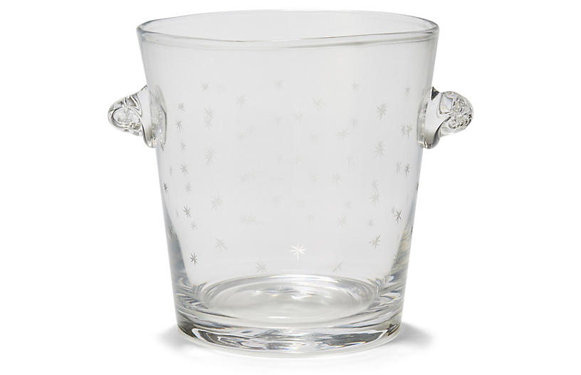 Starburst Ice Bucket, Clear