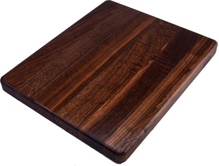 "Walnut Edge Grain Board, 12"" x 10"""