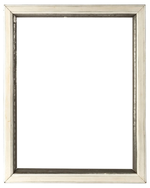 Silver-Leaf Frame w/ Polished Gesso