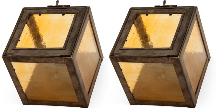 Antique Sconces, Pair