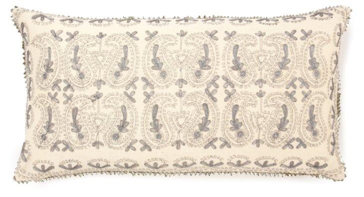 Metallic 12x24 Pillow, Bisque