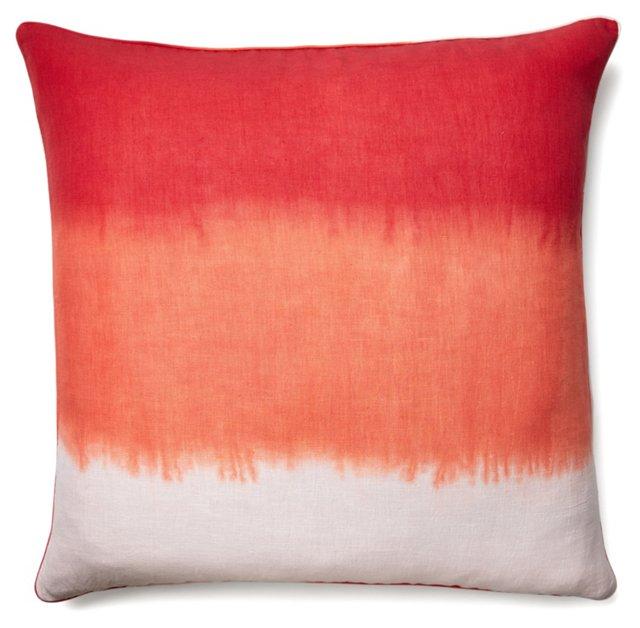 Windflower 24x24 Linen Pillow, Multi