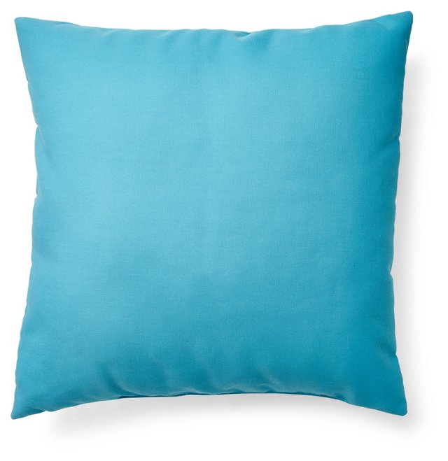Solid 20x20 Outdoor Pillow, Blue