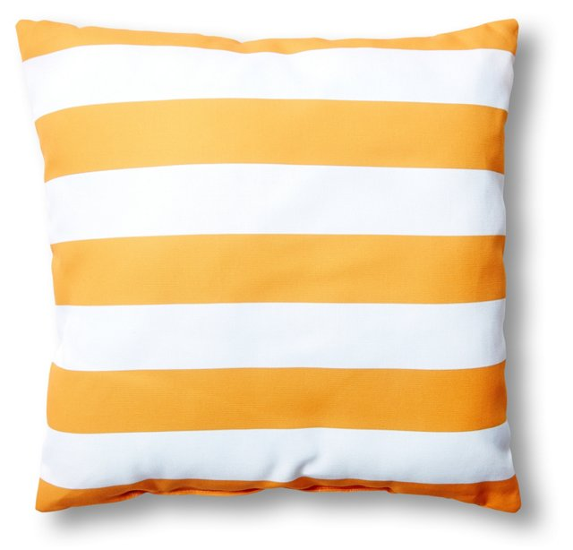 Cabana 20x20 Outdoor Pillow, Orange