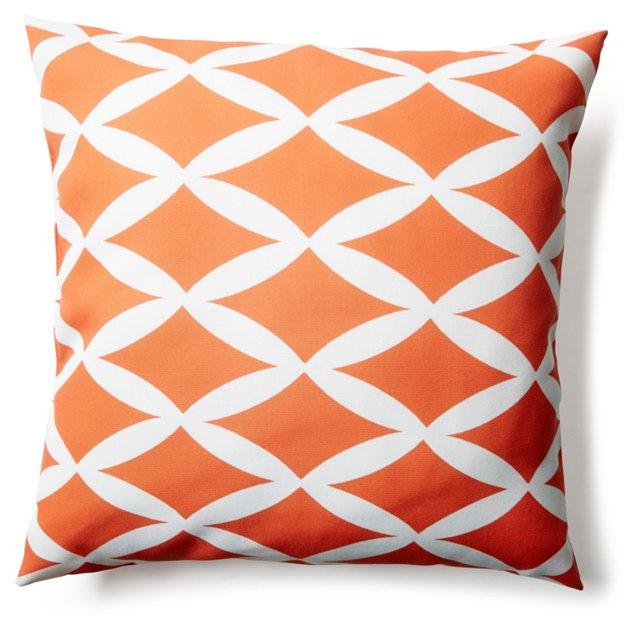 Geo 20x20 Outdoor Pillow, Orange