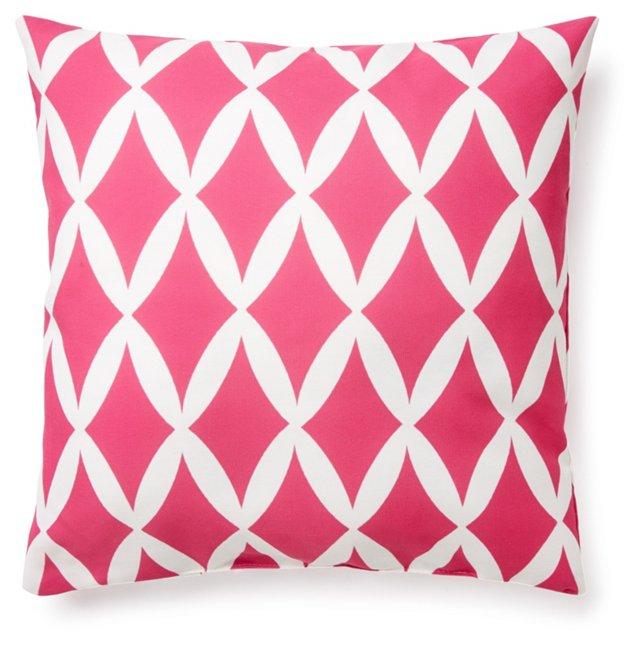 Geo 20x20 Outdoor Pillow, Pink