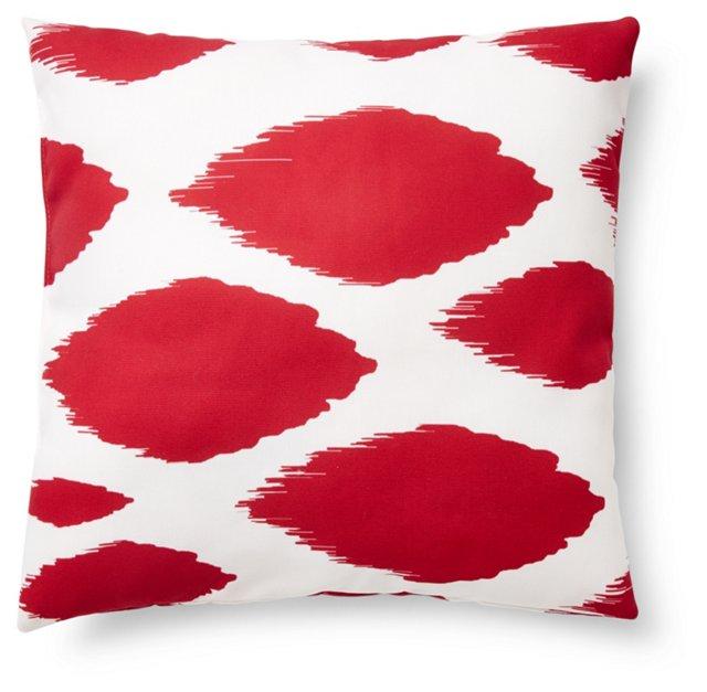 Ikat 20x20 Outdoor Pillow, Red