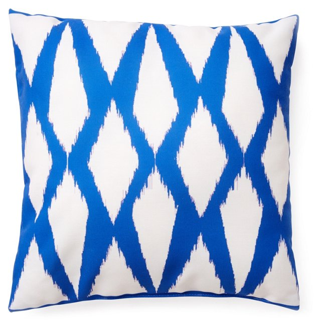 Twine 20x20 Outdoor Pillow, Blue