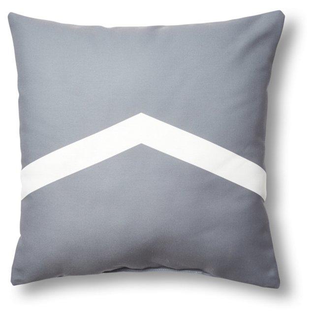 Upwards 20x20 Outdoor Pillow, Steel