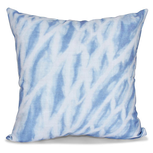Shibori Outdoor Pillow, Blue