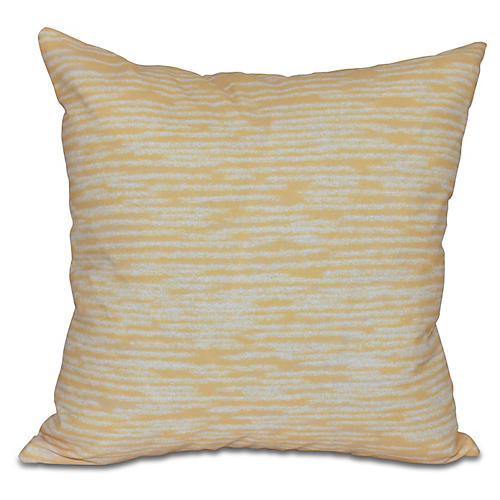 Marled Knit Outdoor Pillow, Yellow
