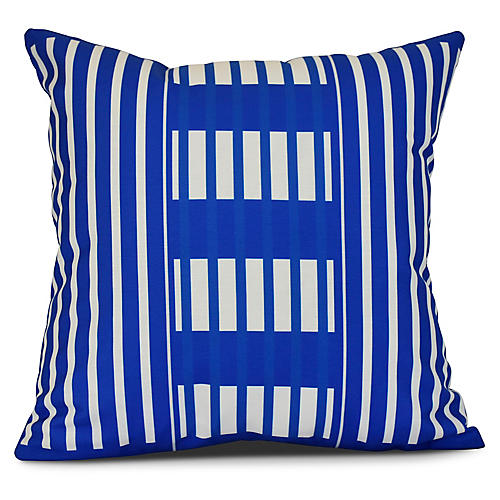 Stripe Outdoor Pillow, Blue