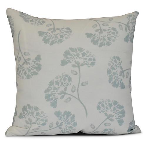 Carnation Outdoor Pillow, Light Green