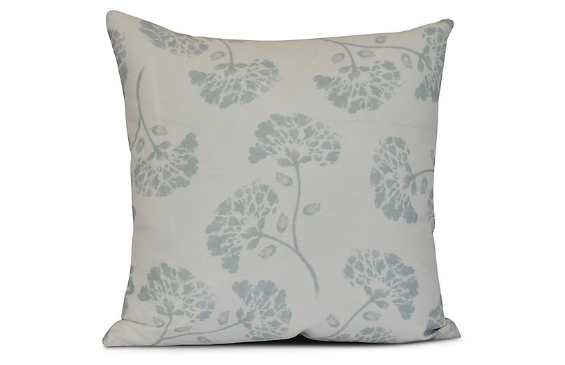 Carnation Outdoor Pillow, Light Green