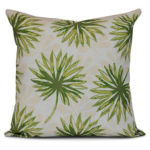 Tropical Outdoor Pillow, Green