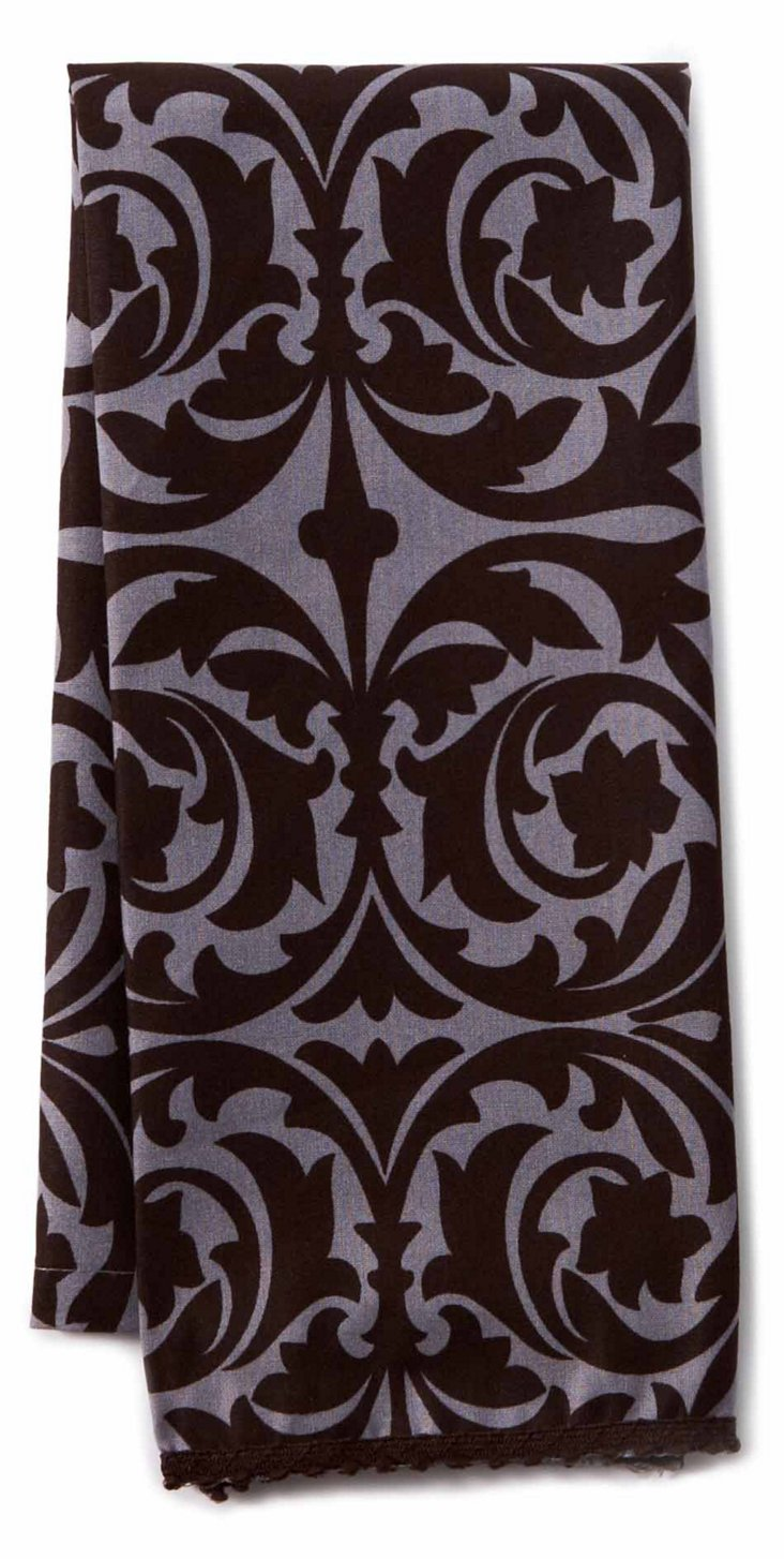 S/2 Garden Gate Guest Towels, Licorice