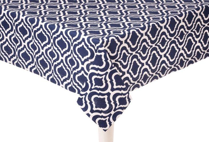 Bargello Square Tablecloth, Navy