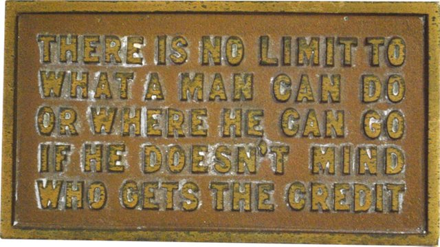 """There is No Limit"" Bronze Desk Plaque"