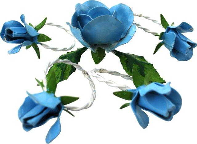Rose Napkin Rings & Candleholder, 5 Pcs