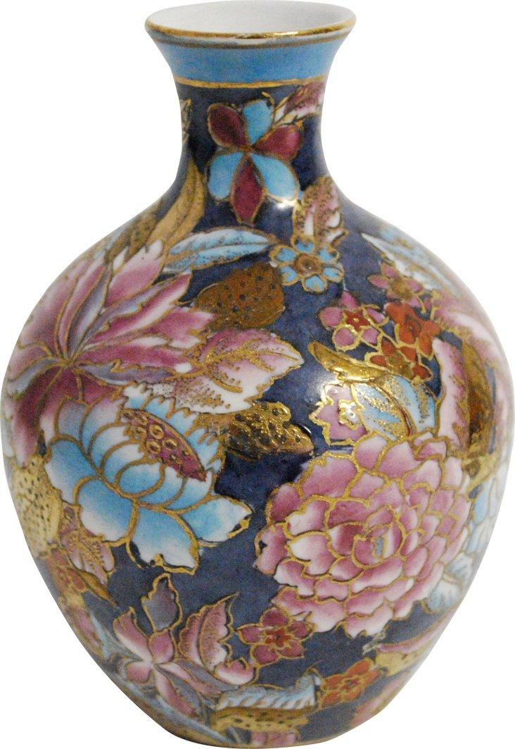 Blue & Purple Floral Vase