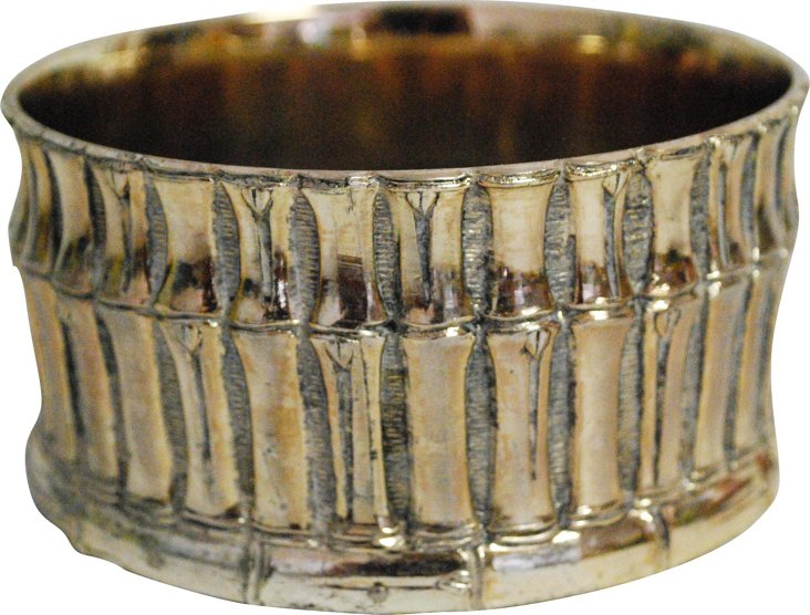 Silver Bamboo Wine Rest