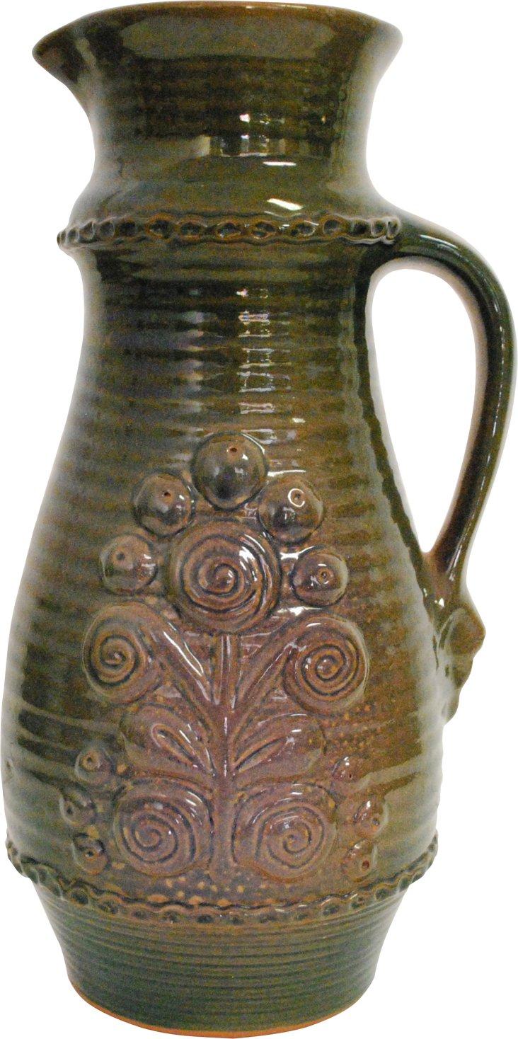 Green & Purple Ceramic Vase
