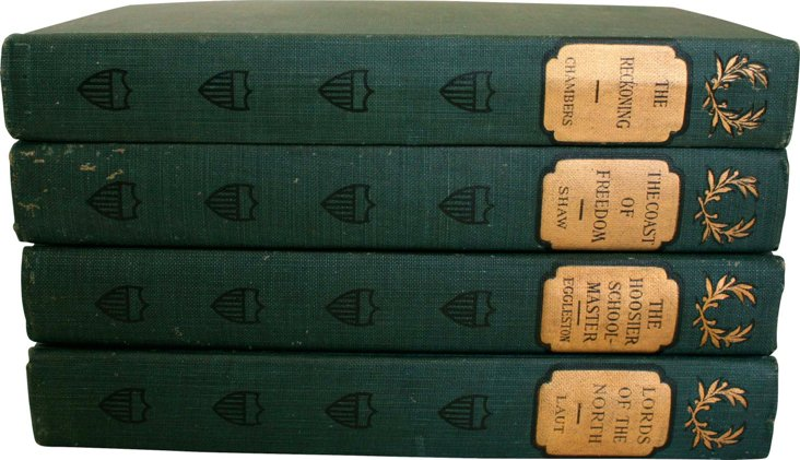 Antique Romance Novels, Set of 4