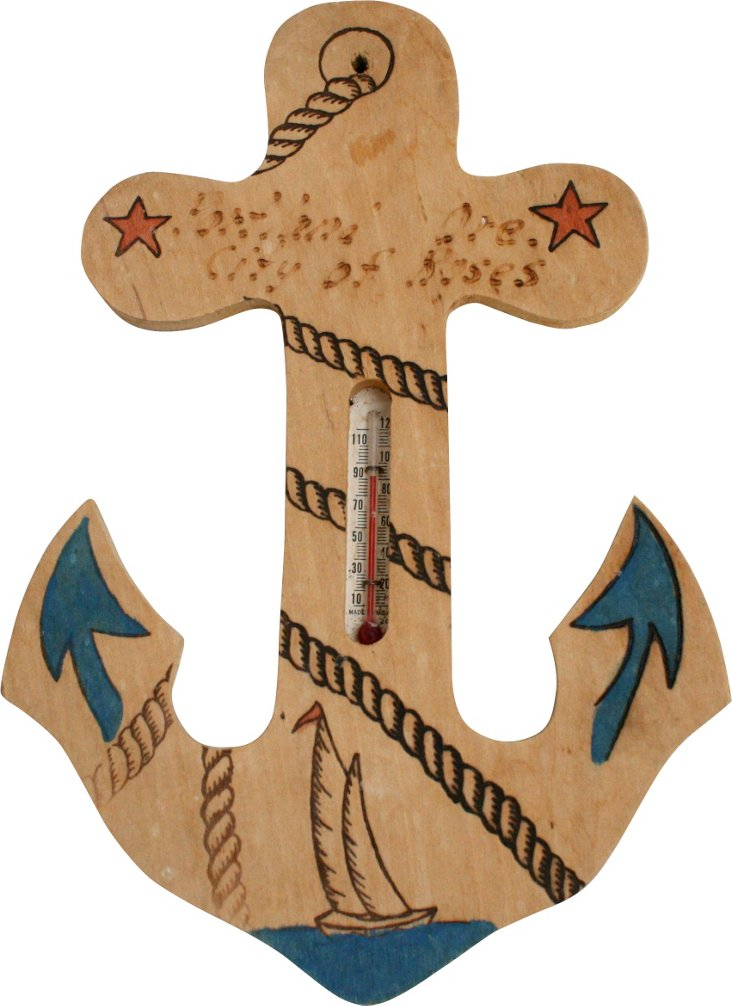 Pyrography Anchor Thermometer