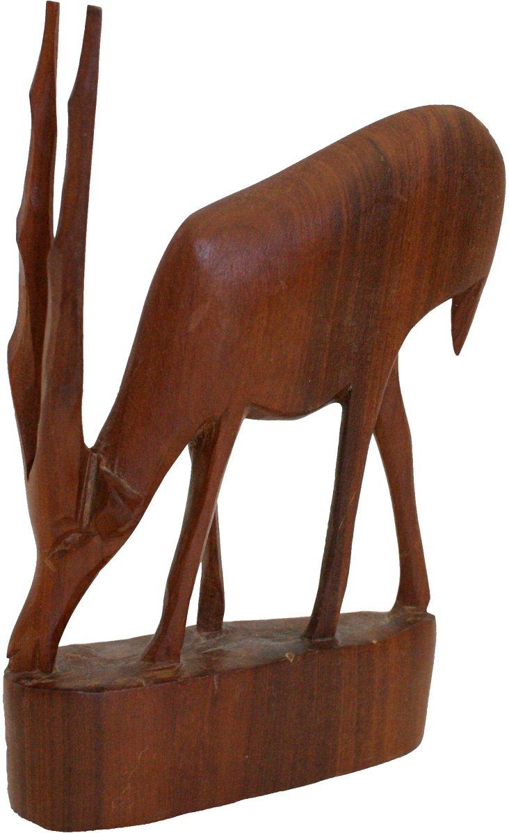 Carved Wood Gazelle