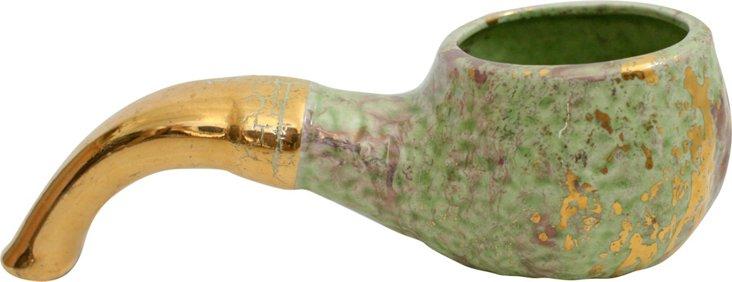 Hand-Painted Ceramic Pipe