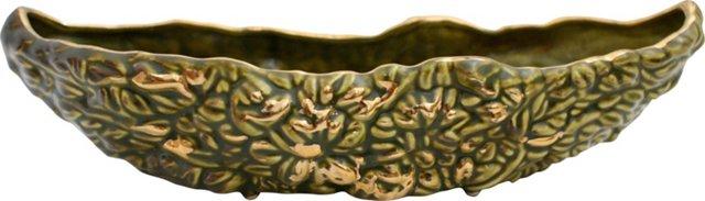 Green & Gold Ceramic Dish