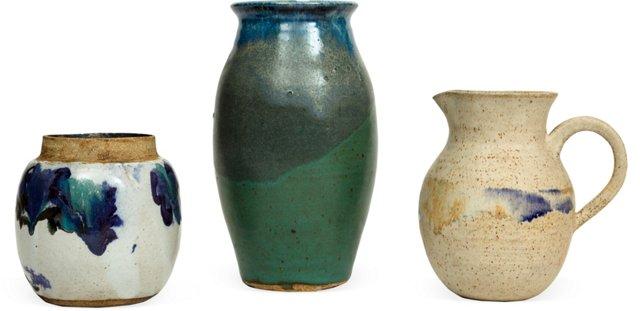Vintage Southwest Pottery, Set of 3
