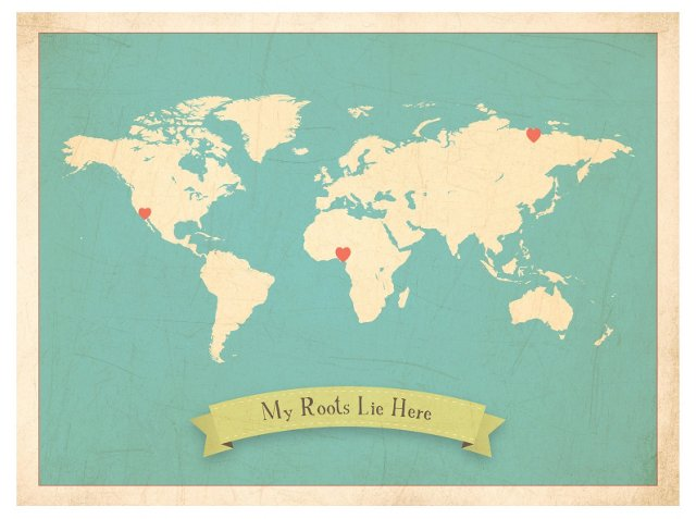 My Roots Lie Here World Map