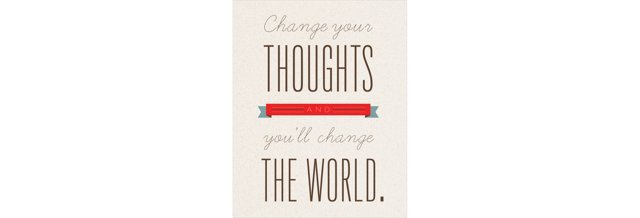 Change Your Thoughts Print