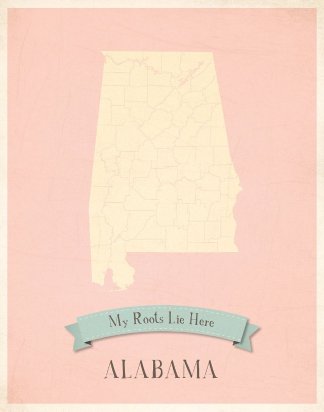 Pink, Customizable State Map