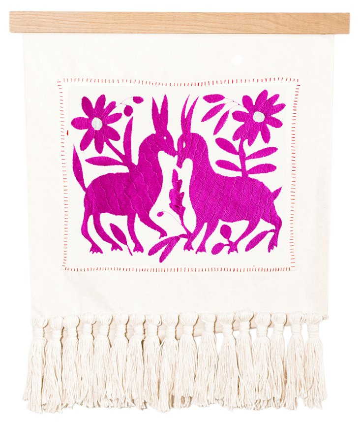 Otomi Tapestry in Fuchsia