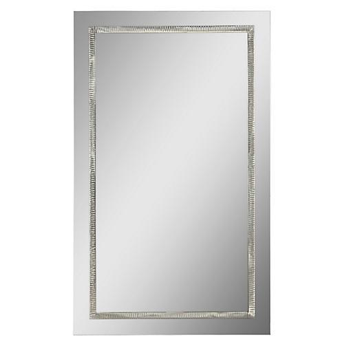 "Stanton 40""x24"" Oversize Mirror, Nickel"