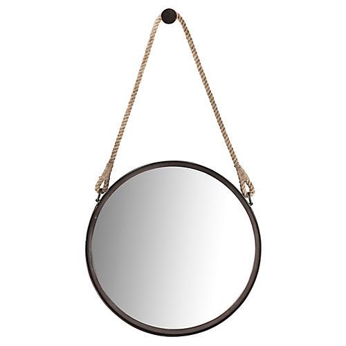 """Stirrup 18"""" Accent Mirror, Brown"""