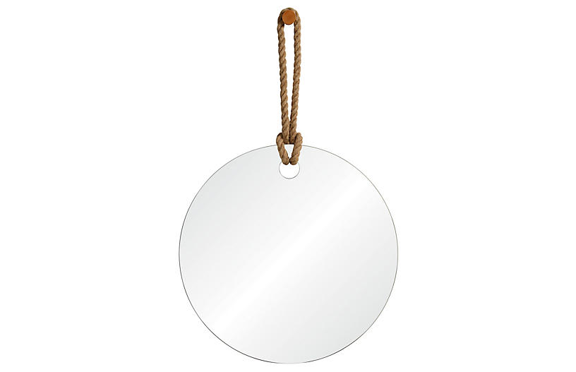 Pelmet Oversize Wall Mirror, Natural