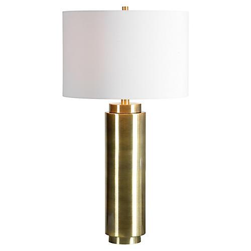 Valeska Table Lamp, Bright Nickel