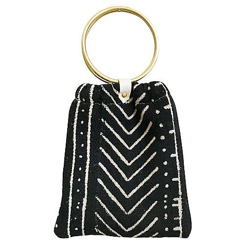 Rosetta Handbag, Black/White