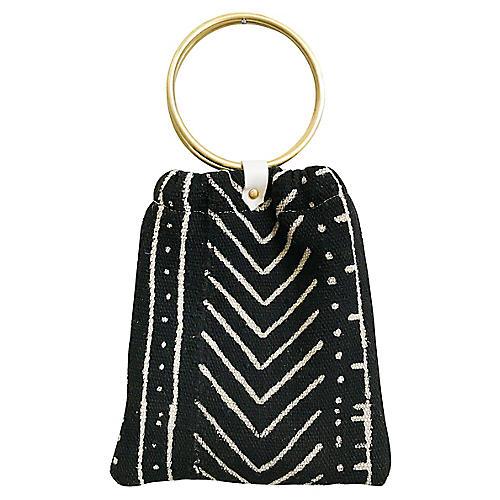 Rosetta Handbag, Black/White