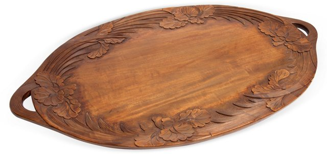 Vintage Carved Tray II