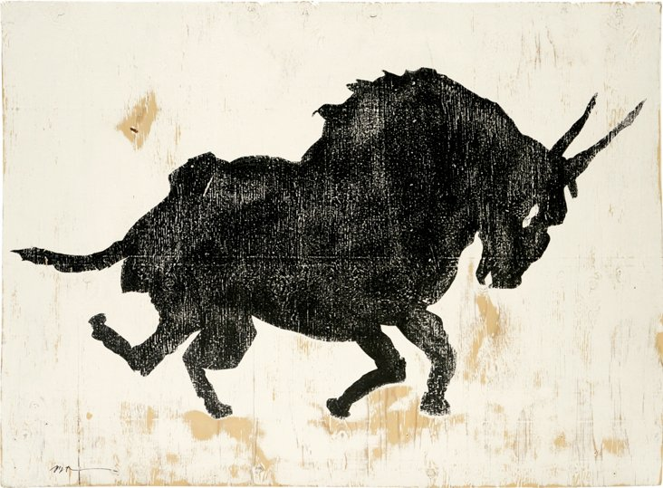 Bull Painting by Michael Rottman